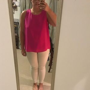 Pink tank with open back